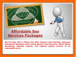 affordable seo services packages