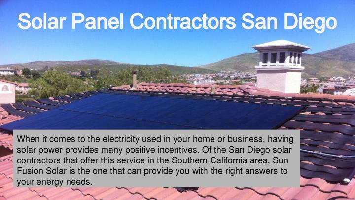 Ppt San Diego Solar Contractors Powerpoint Presentation