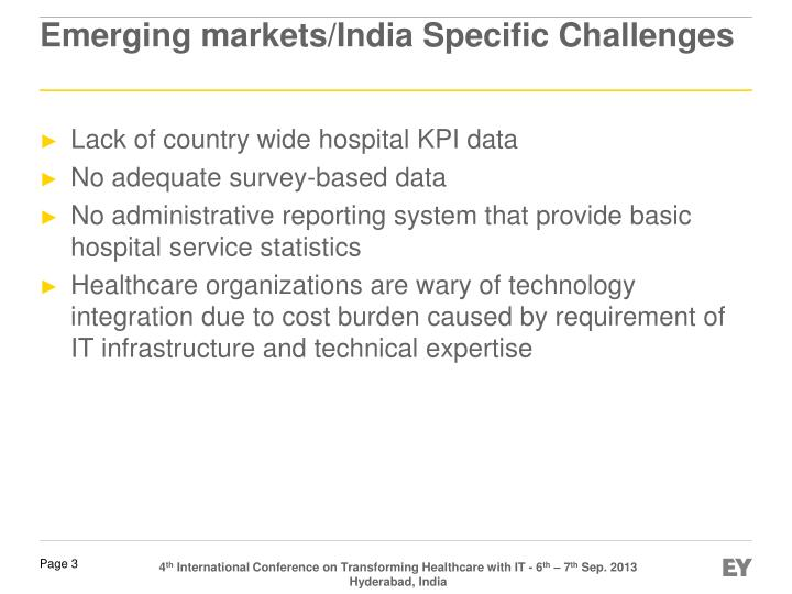 Emerging markets india specific challenges