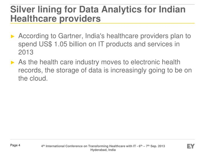 Silver lining for Data Analytics for Indian Healthcare providers