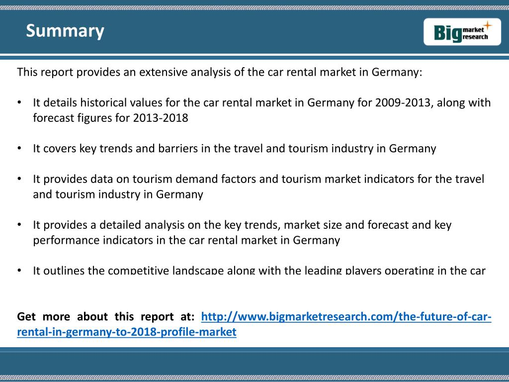 Tourism industry in germany