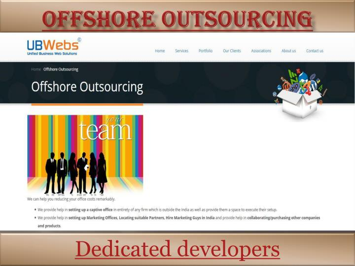 offshore outsourcing n.