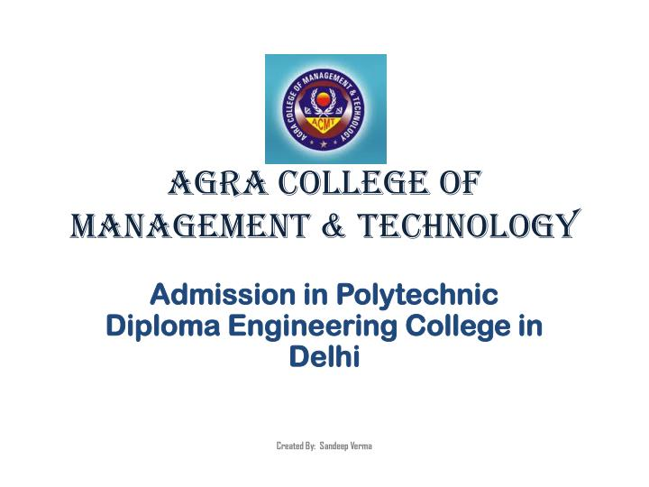 agra college of management technology n.