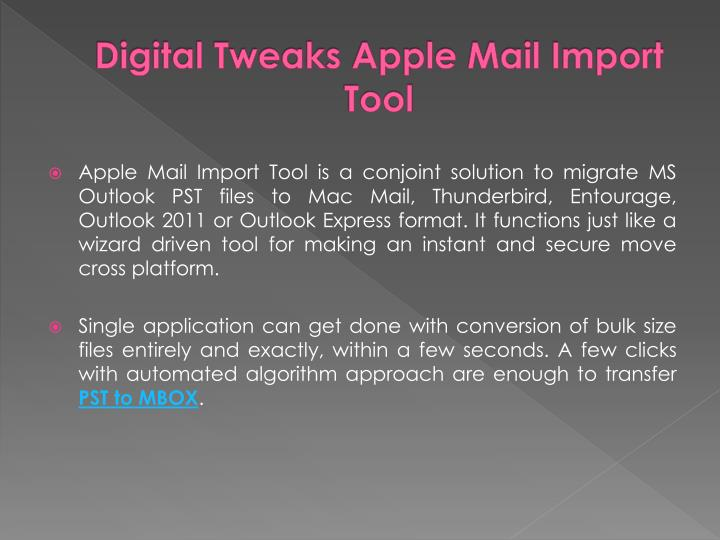 Digital tweaks apple mail import tool
