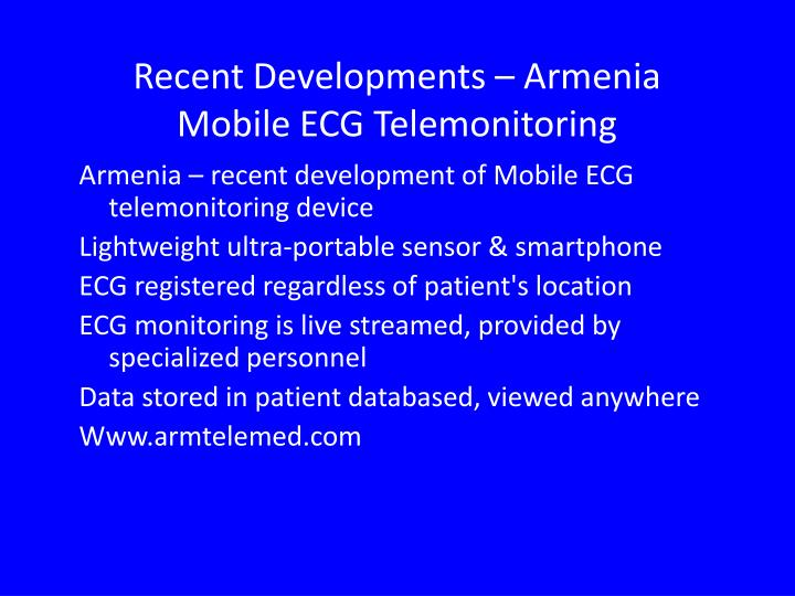 Recent Developments – Armenia