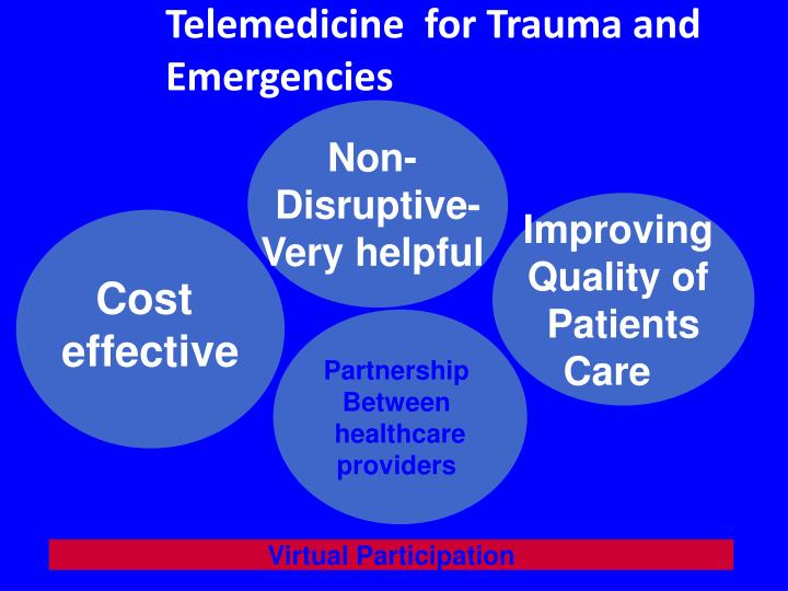 Telemedicine  for Trauma and