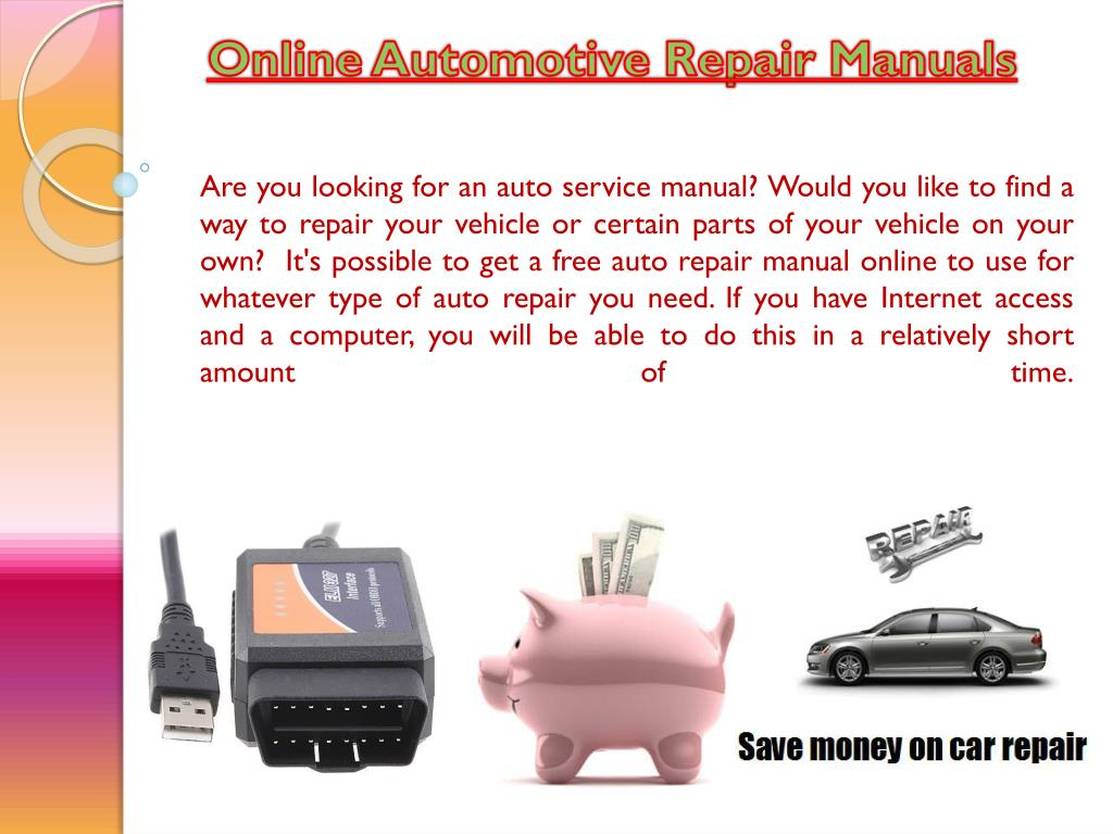 PPT - Repair Manuals For Cars PowerPoint Presentation - ID