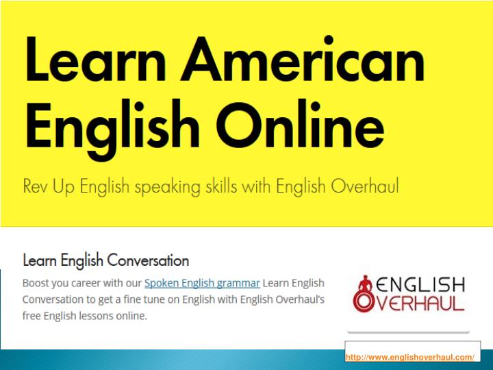 PPT - Learn American English Online PowerPoint Presentation