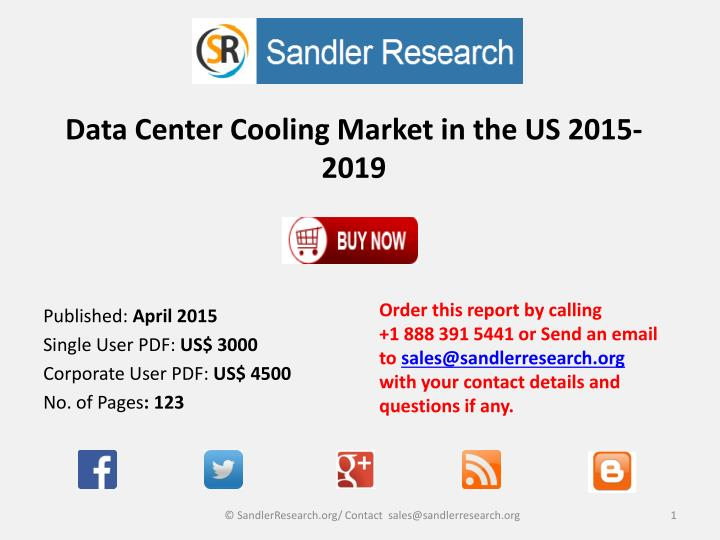 data center cooling market in the us 2015 2019 n.