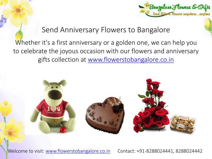 Send anniversary flowers to bangalore