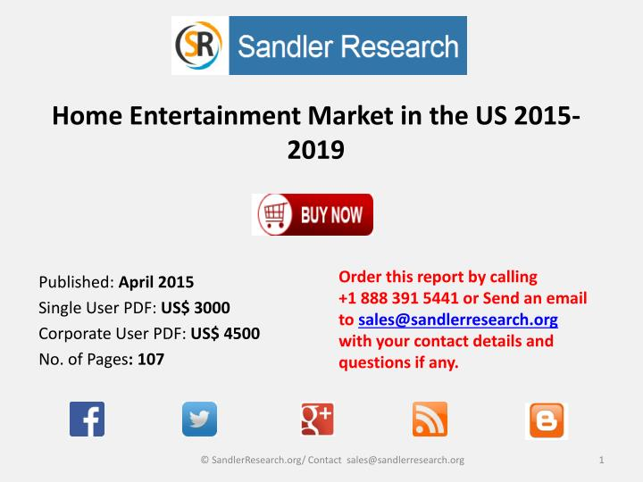 home entertainment market in the us 2015 2019 n.