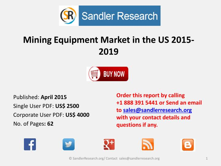 mining equipment market in the us 2015 2019 n.