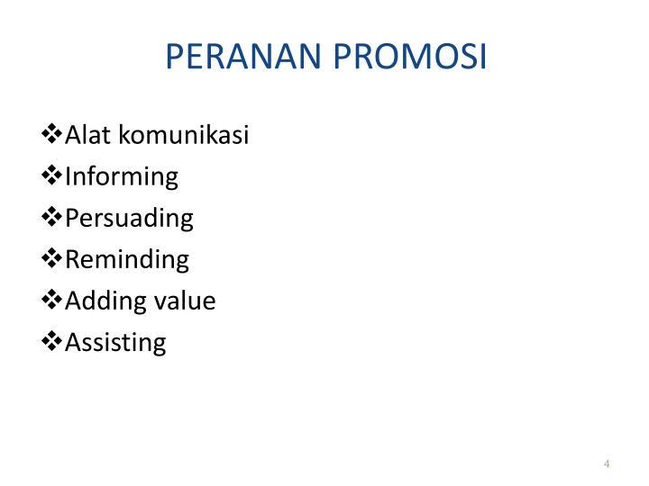 PERANAN PROMOSI