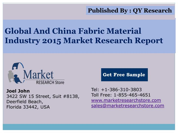 Global and china fabric material industry 2015 market research report