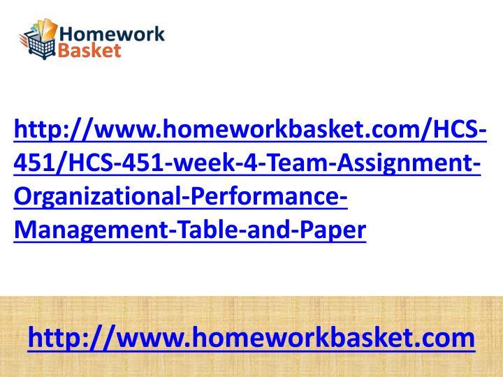 Http://www.homeworkbasket.com/HCS-451/HCS-451-week-4-Team-Assignment-Organizational-Performance-Mana...