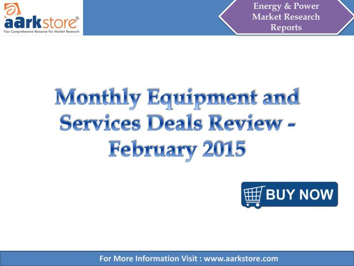 Monthly equipment and services deals review february 2015