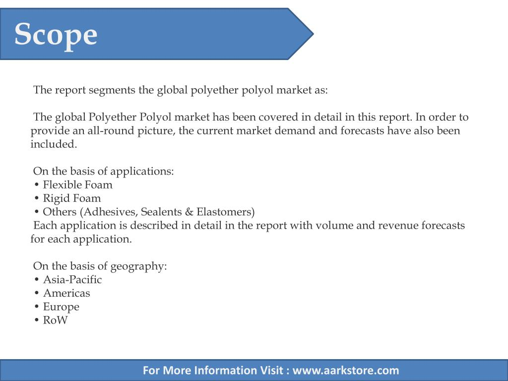 PPT - Aarkstore - Polyether Polyols Market by Applications