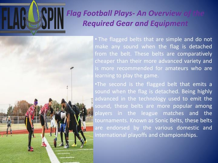 Flag football plays an overview of the required gear and equipment2