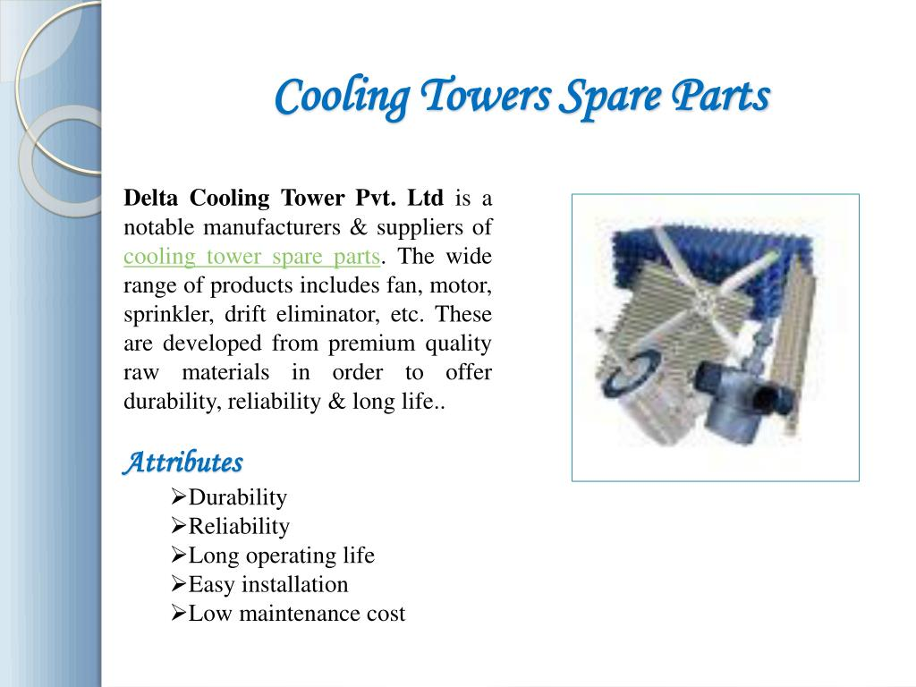 Cooling Tower Spare Parts Manufacturers