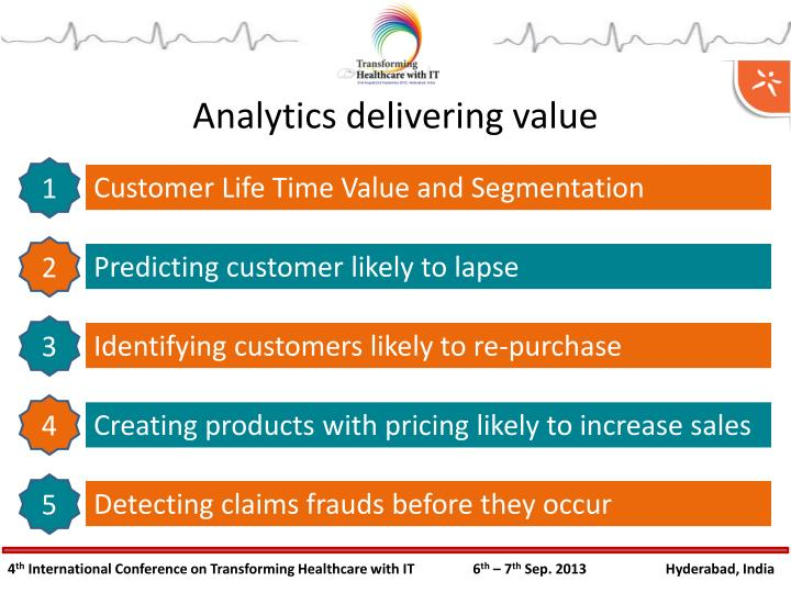Analytics delivering value