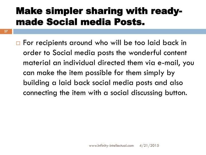 Make simpler sharing with ready-made Social media Posts.