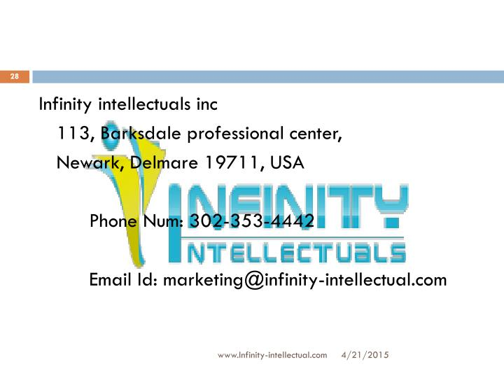 Infinity intellectuals inc