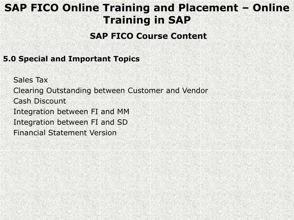 PPT - SAP FICO Online Training and Placement PowerPoint