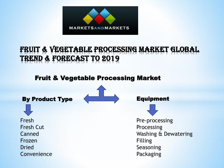 fruit vegetable processing market global trend forecast to 2019 n.