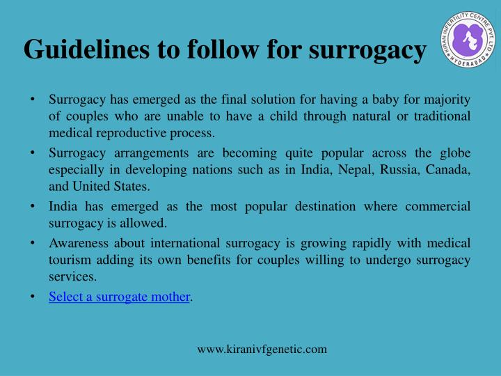 Guidelines to follow for surrogacy1