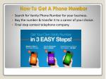 how to get a phone number