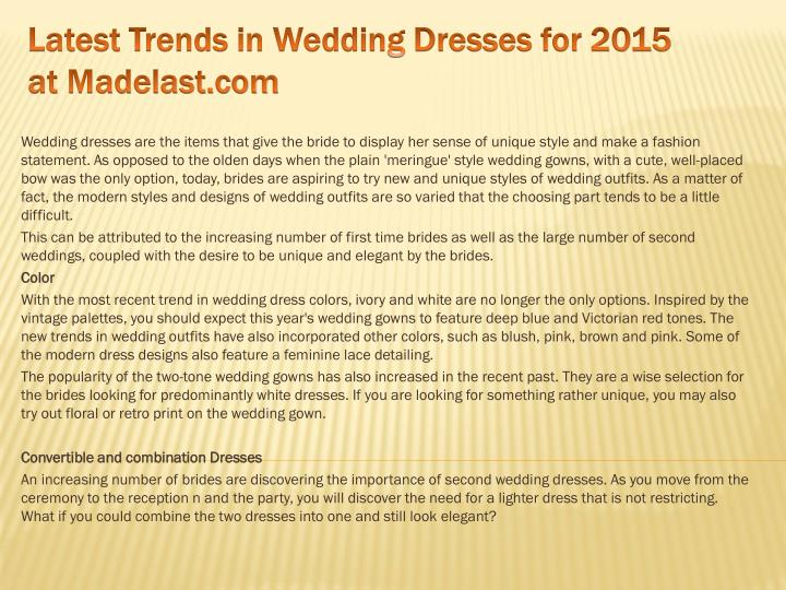 latest trends in wedding dresses for 2015 at madelast com n.