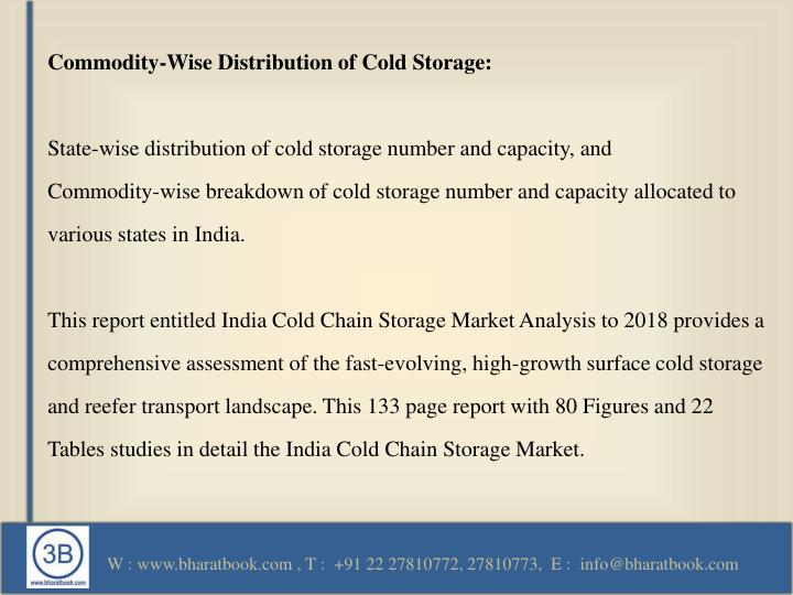 Commodity-Wise Distribution of Cold Storage: