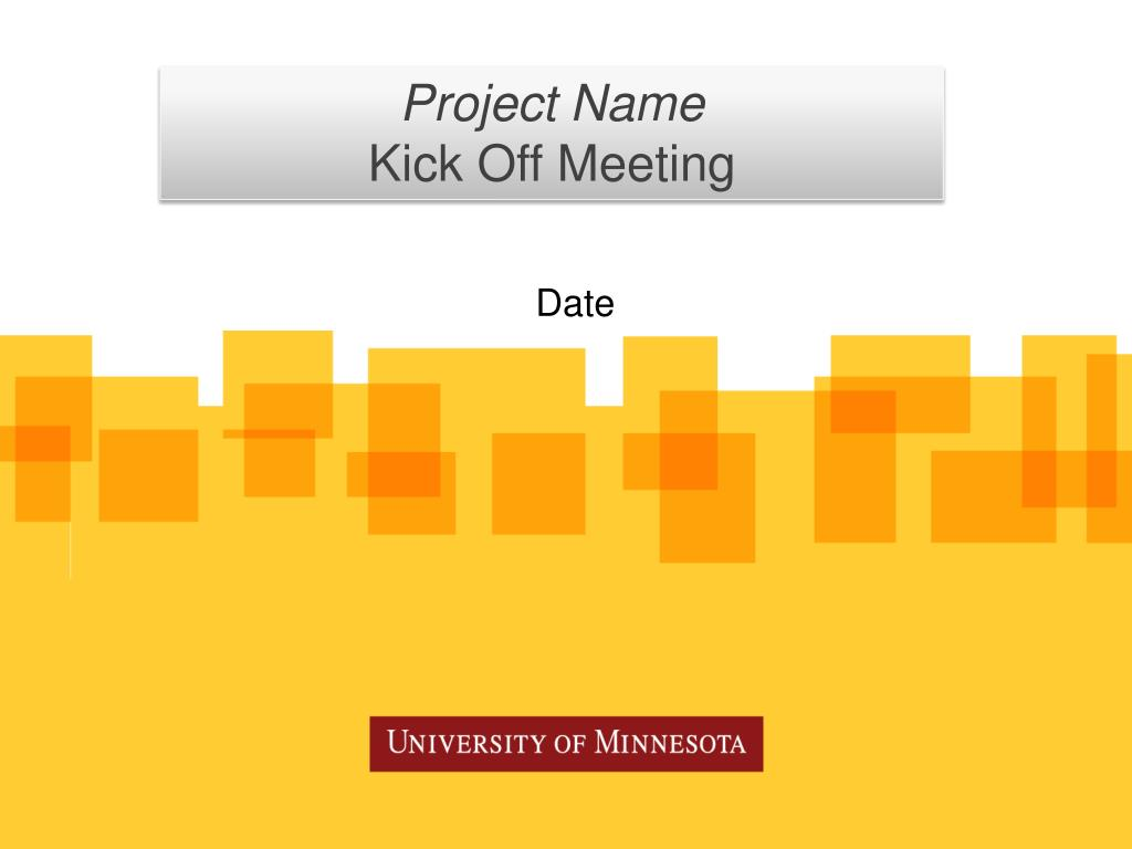 Template Kick Off Project Meeting