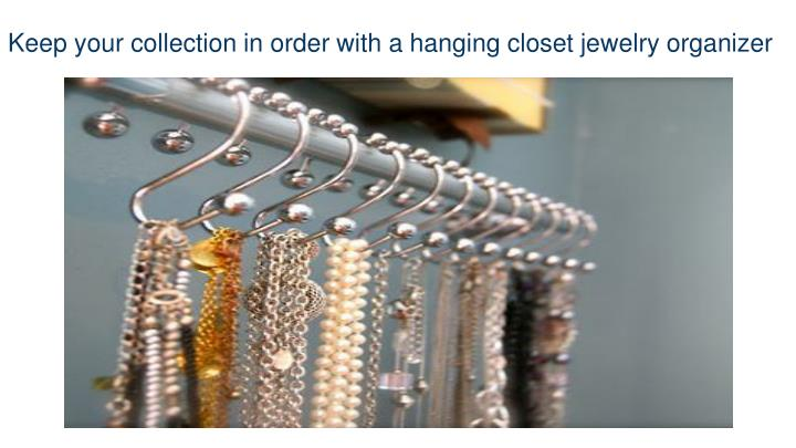 Keep your collection in order with a hanging closet jewelry organizer