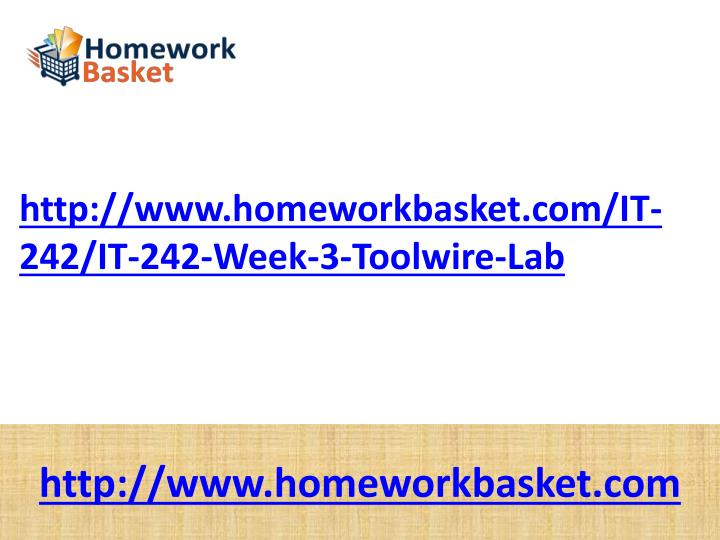 it 242 week 3 toolwire lab It 235 it 236 it 237 it 240 it 241 it 242 it 244 it 280 it 282 it 284 it 241 week 3 wireless network week five click toolwire lab: conducting a.