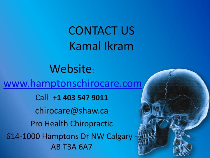 Contact us kamal ikram