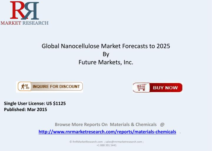 global nanocellulose market forecasts to 2025 by future markets inc n.