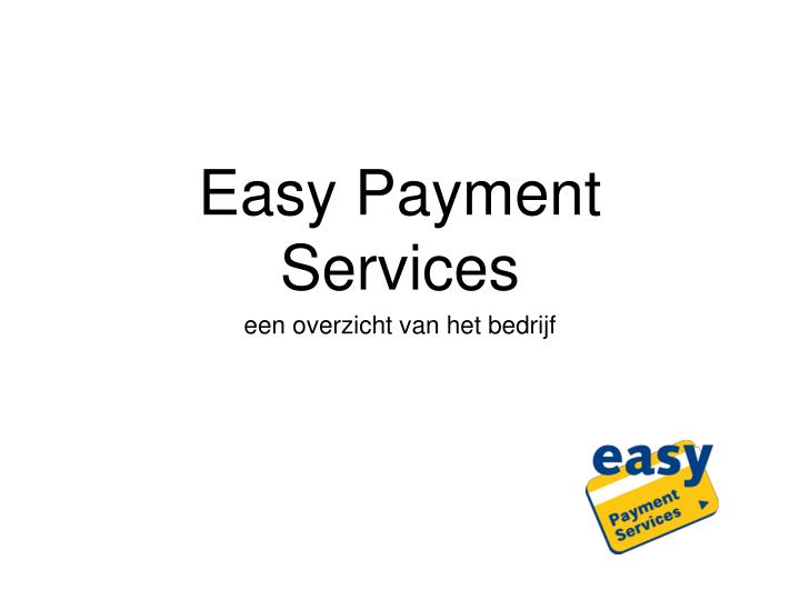 easy payment services