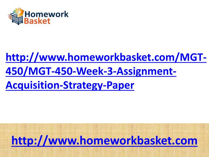 mgt 498 week 3 individual study Mgt/498 strategy formulation week 4 the week 4 individual assignment is the second part of a three part strategic management plan for the company selected by the student in week 3.