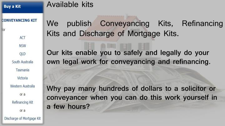 Ppt conveyancing melbourne powerpoint presentation id7151270 we publish conveyancing kits refinancing kits and discharge of mortgage kits solutioingenieria Gallery