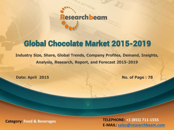 global chocolate market 2015 2019 n.