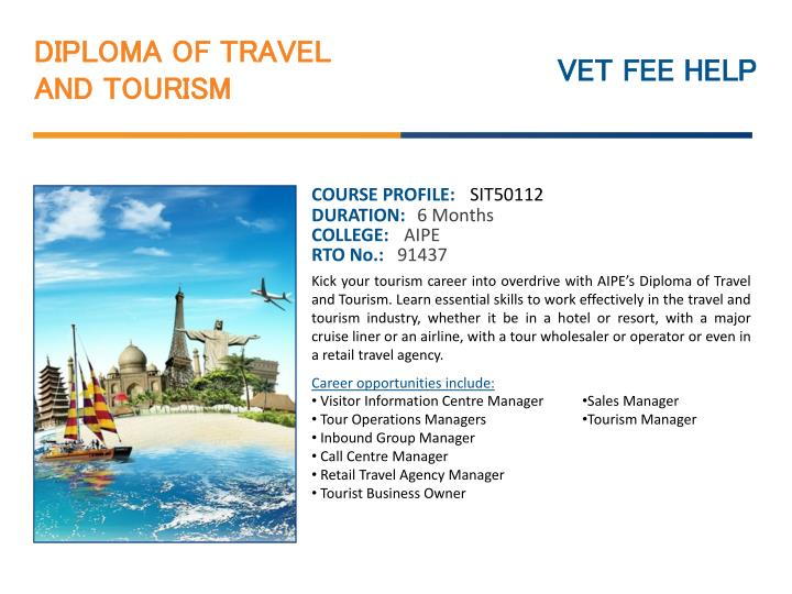PPT - Diploma of Travel and Tourism Course Online Australia