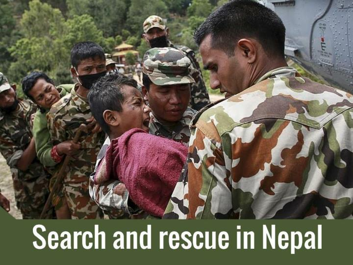 search and rescue in nepal n.