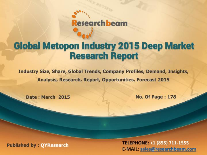 global metopon industry 2015 deep market research report n.