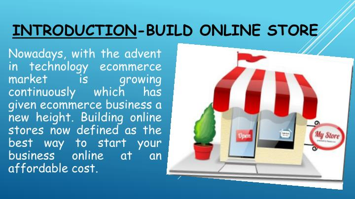 introduction build online store n.