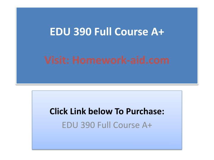 edu 390 week 1 to 3 Cs390s, week 1: introduction to relating to secure programming ­be able to name, tell apart and utilize secure programming.