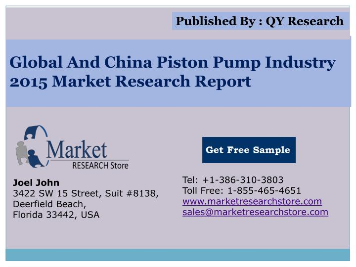 global and china piston pump industry 2015 market research report n.