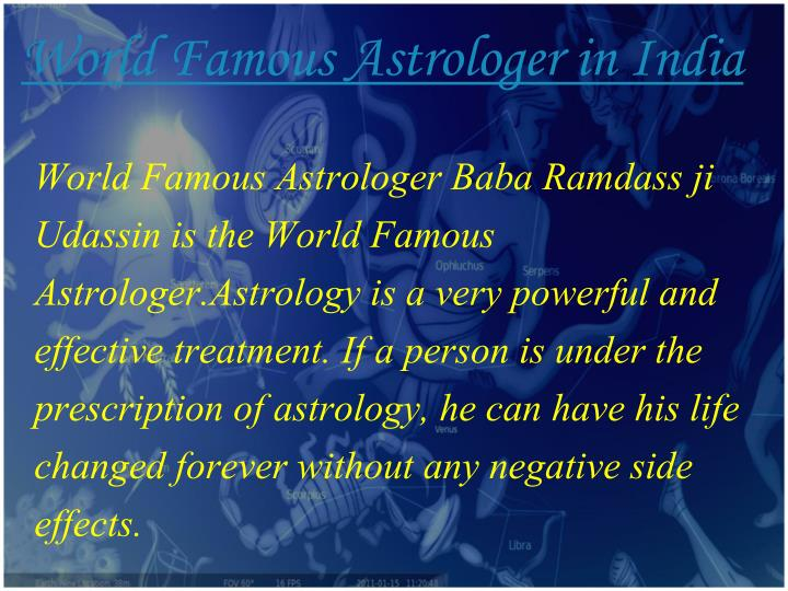World Famous Astrologer in