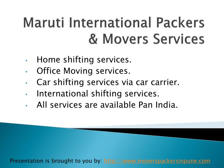 maruti international packers movers services n.