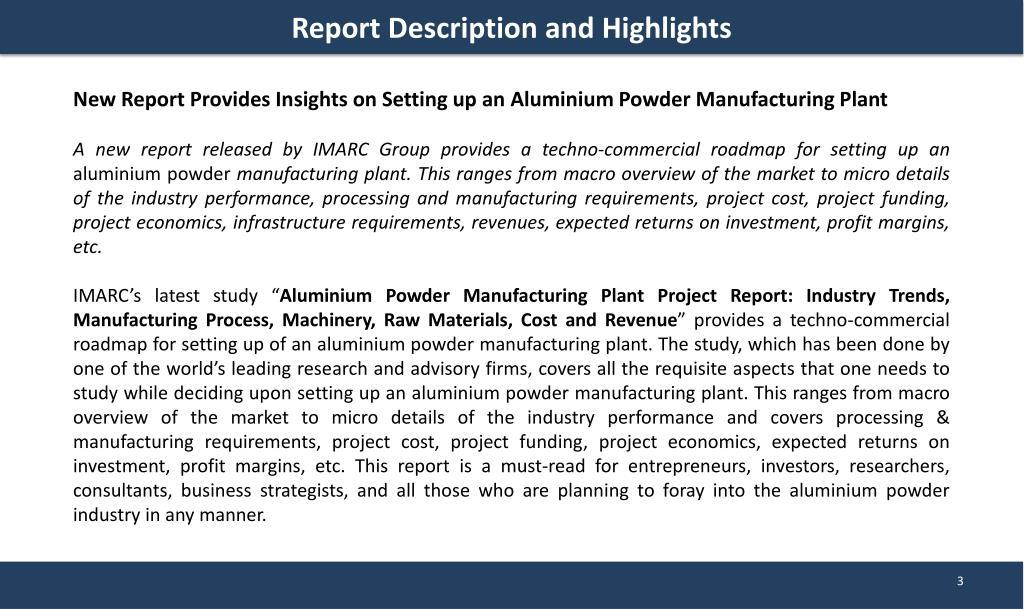 PPT - Aluminium Powder Manufacturing Plant | Market Trends